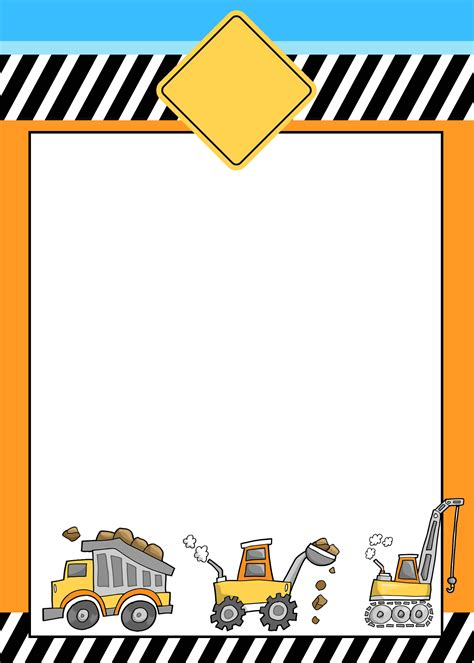 construction themed birthday card template construction birthday with free printables how to