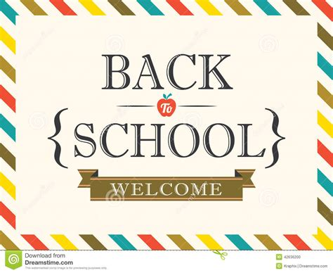 back to school postcard background template stock vector