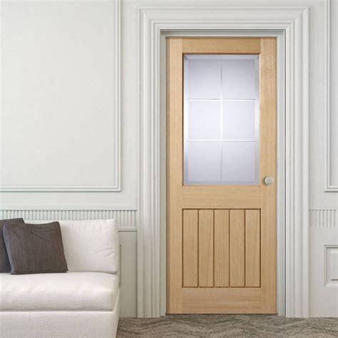 Mexicano Valencia Oak Door With Brilliant Cut Glass Cut Glass Doors