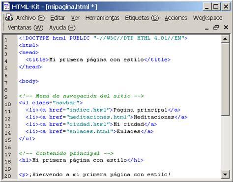 galeria imagenes html codigo comenzando con html css