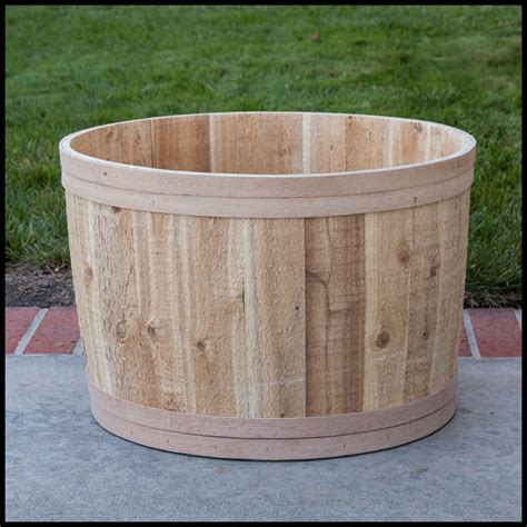 bathtub planters the buckland cedar tub planter 22in dia