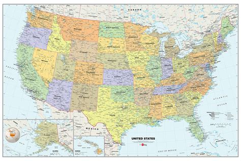 detailed america map us map detailed