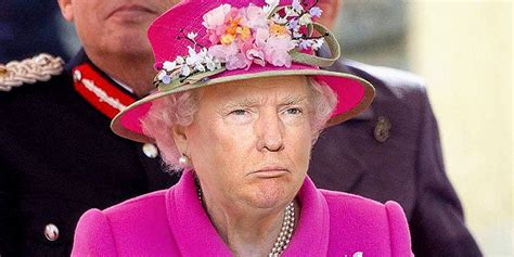 donald trump queen photoshop trump s face on the queen s body is truly horrifying