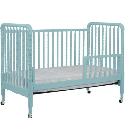 crib conversion kit davinci lind stationary crib with toddler bed conversion kit in lagoon finish