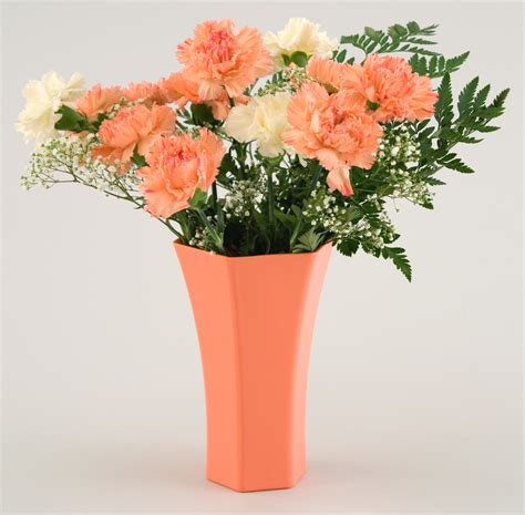 Plastic Flower Vases Bulk by 8 Quot Hexagon Plastic Flower Vase