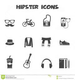 hipster icons stock vector image 40981257
