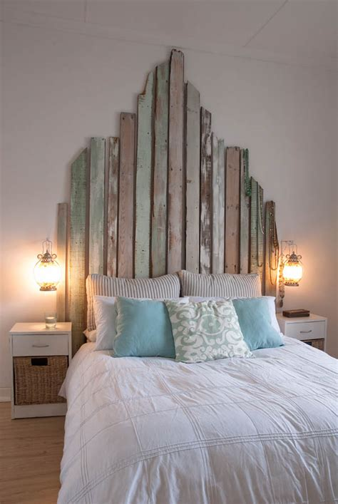 unique headboards ideas 2014 future home decor pinterest reclaimed boards in soft worn pastel colours are