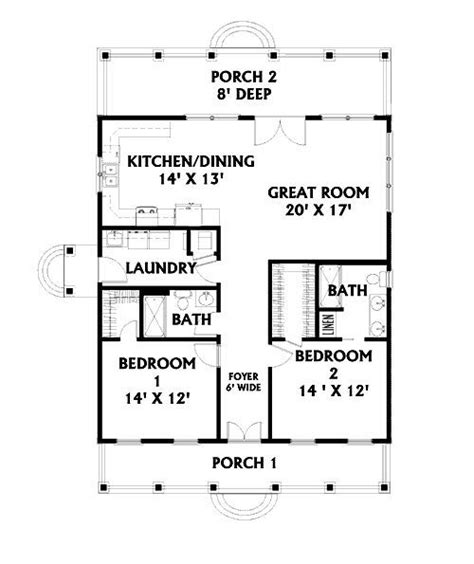 2 Bedroom Open Floor Plans 2 Bedroom Open Floor Plan Frugal Housing Ideas Pinterest Doors One Bedroom And Entrance