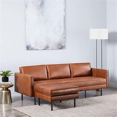 west elm axel leather sofa axel leather sofa 89 quot ottoman set west elm
