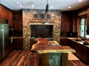 Natural wood countertops rustic kitchen nashville by
