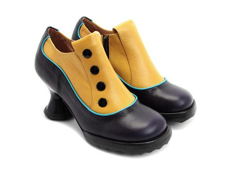 fluevog shoes fluevog shoes shop bunny navy yellow leather