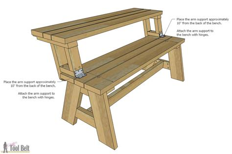 bench to picnic table plans convertible picnic table and bench buildsomething com