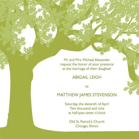 Oak Tree Wedding Invitations by Wedding Invitations Oak Tree At Minted