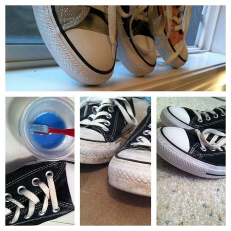 diy shoe cleaner baking soda and laundry detergent first add the baking soda and detergent