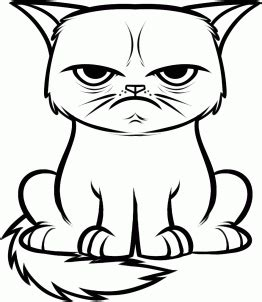 sad cat coloring page grumpy cat coloring page because someone didn t tell me