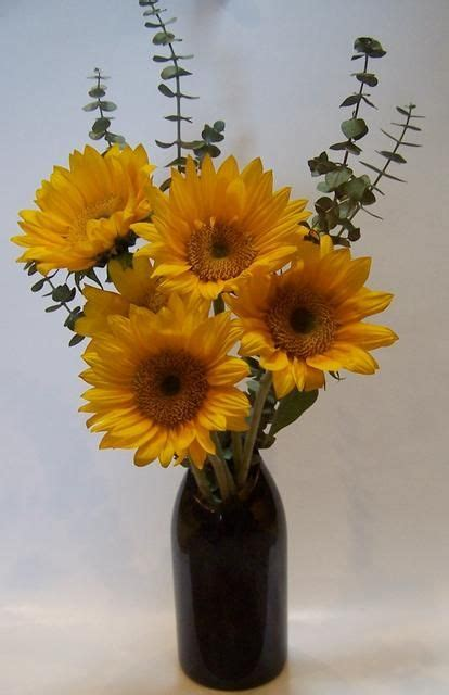 Wine Glass Vase Flower Arrangement by 17 Best Images About Sunflowers On Fall
