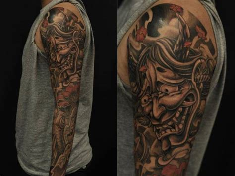 hannya mask tattoo koi fish 47 fantastic hannya sleeve tattoos