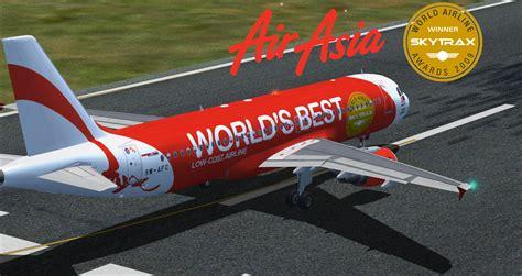 airasia skytrax malaysia airasia airbus a320 skytrax 9m afc for fsx