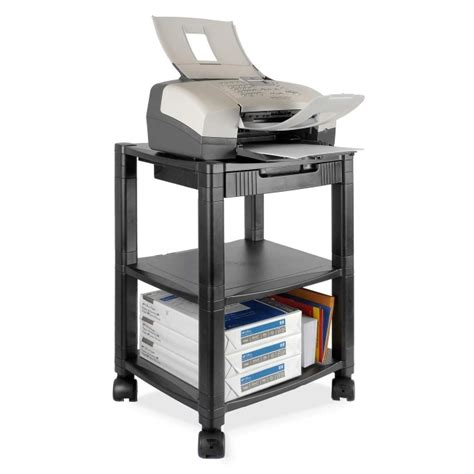 Desk With Printer Shelf by Kantek Ps540 Desk Side 3 Shelf Moblie Printer Fax Stand