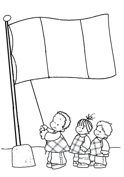 la bandera de peru para colorear recursos para educaci 243 n inicial dibujos para el d 205 a de la