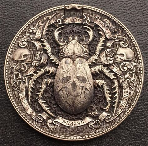 themes of gold bug artist hand engraves incredible gold bug coin with