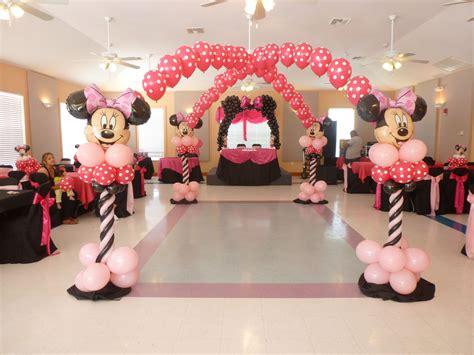 themes minnie mouse minnie mouse balloon decorations birthday idea