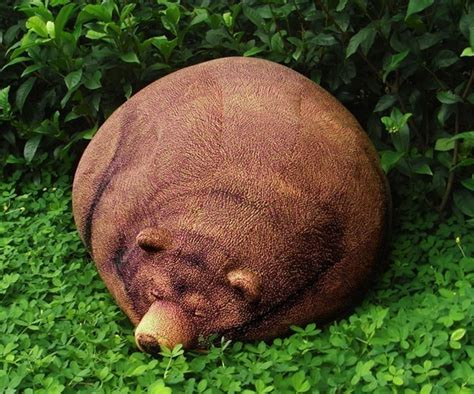 big sleeping grizzly bear bean bag dudeiwantthat com