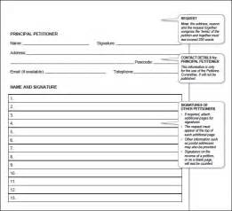 Printable Petition Template by Petition Template 23 Free Documents In Pdf Word
