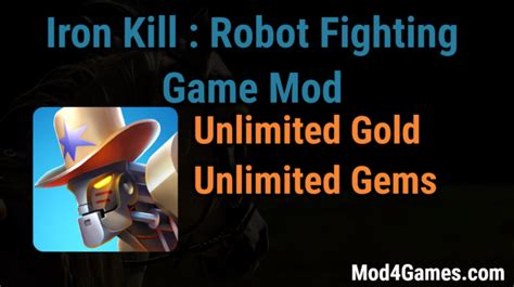 download game bima x mod unlimited iron kill robot fighting game mod unlimited gold