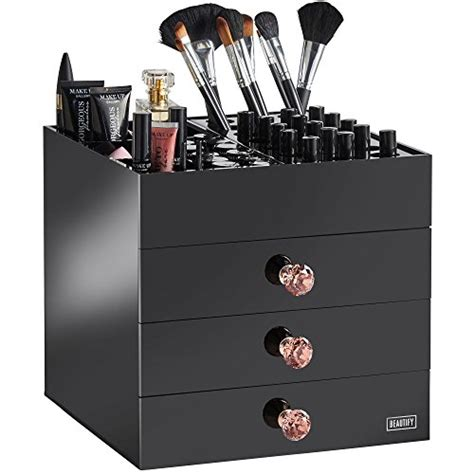 black acrylic makeup drawers top 19 best cosmetic holders