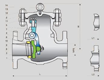 swing check valve orientation check valve