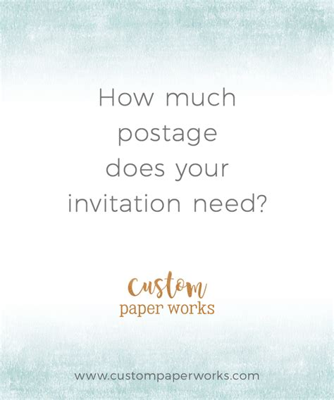 How Much Postage For Wedding Invitation