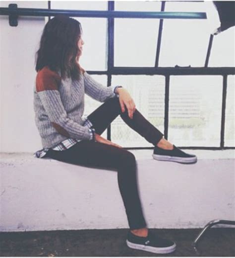 Sweater Vans Patch sweater flannel shirt vans black grey sweater