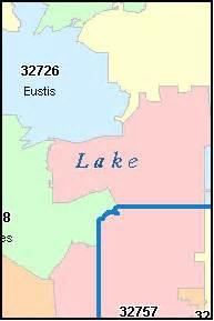 lake county florida digital zip code map