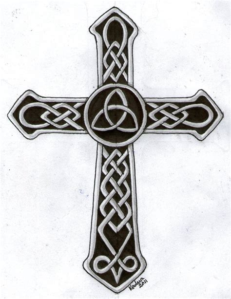 best celtic cross tattoos celtic cross designs for tattoos image