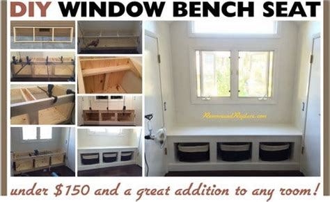 do it yourself window seat diy wooden window bench seat with storage