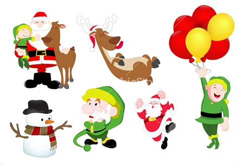 christmas characters vector illustrations