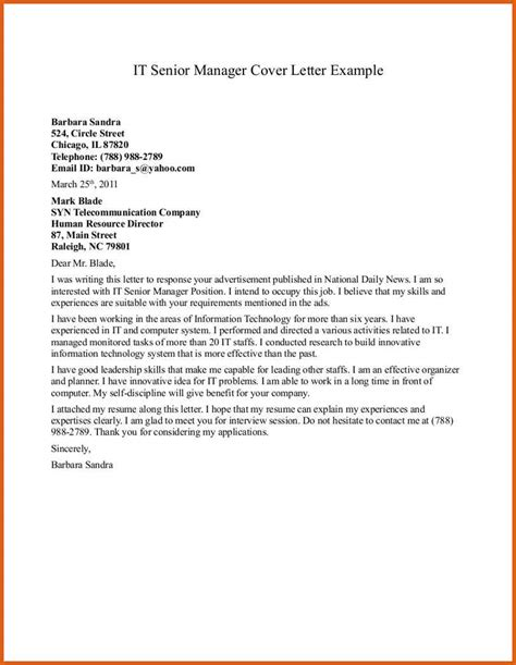 Cover Letter Sle Director Position cover letter for nursing management 28 images