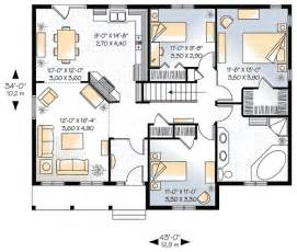 3 Bedroom House Floor Plans by 3 Bedroom House Plans Ideas