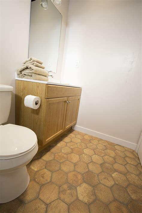 a builder grade bathroom transformation with lowe�s