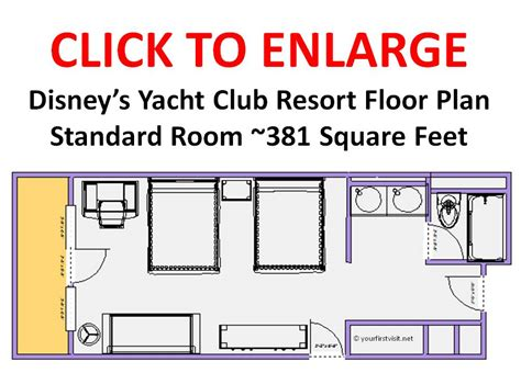 Disney Club Floor Plan - disney s yacht club resort floor plan