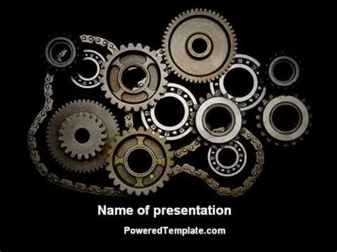 mechanical powerpoint template backgrounds mechanical wheels powerpoint template by poweredtemplate
