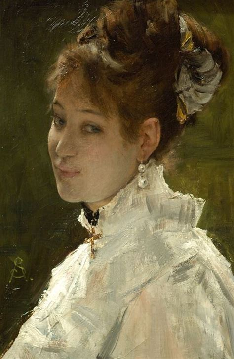 Peinture A La Mode 3934 by Alfred 1823 1906 Alfred
