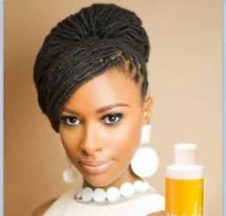 simple nigeria hair briad this loc updo natural hair pinterest beautiful