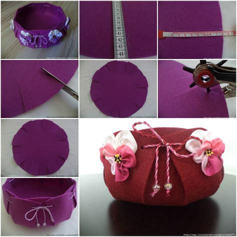 diy beautiful how to make beautiful felt basket step by step diy tutorial thumb how to