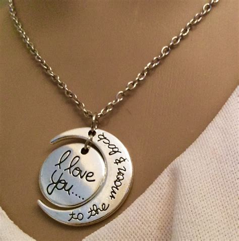 I Necklace necklace i you to the moon and back alert me bands