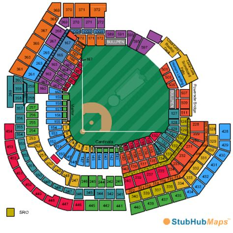 busch stadium section map busch stadium seating chart pictures directions and