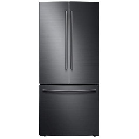 Home Depot Interior French Door samsung 30 in w 21 8 cu ft french door refrigerator in