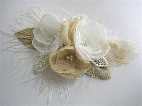 Wedding Hair Accessories Chagne by Rustic Wedding Hair Accessories Flowers Burlap Wedding