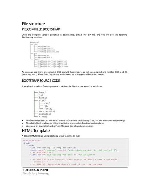 bootstrap tutorial zip bootstrap tutorial
